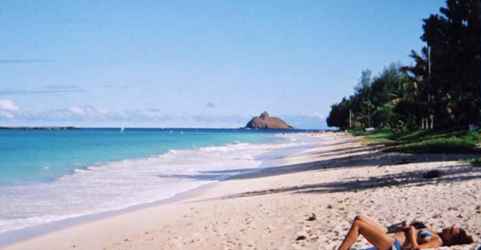 Enjoy a relaxing day of sand, surf and sun at Kailua Beach.